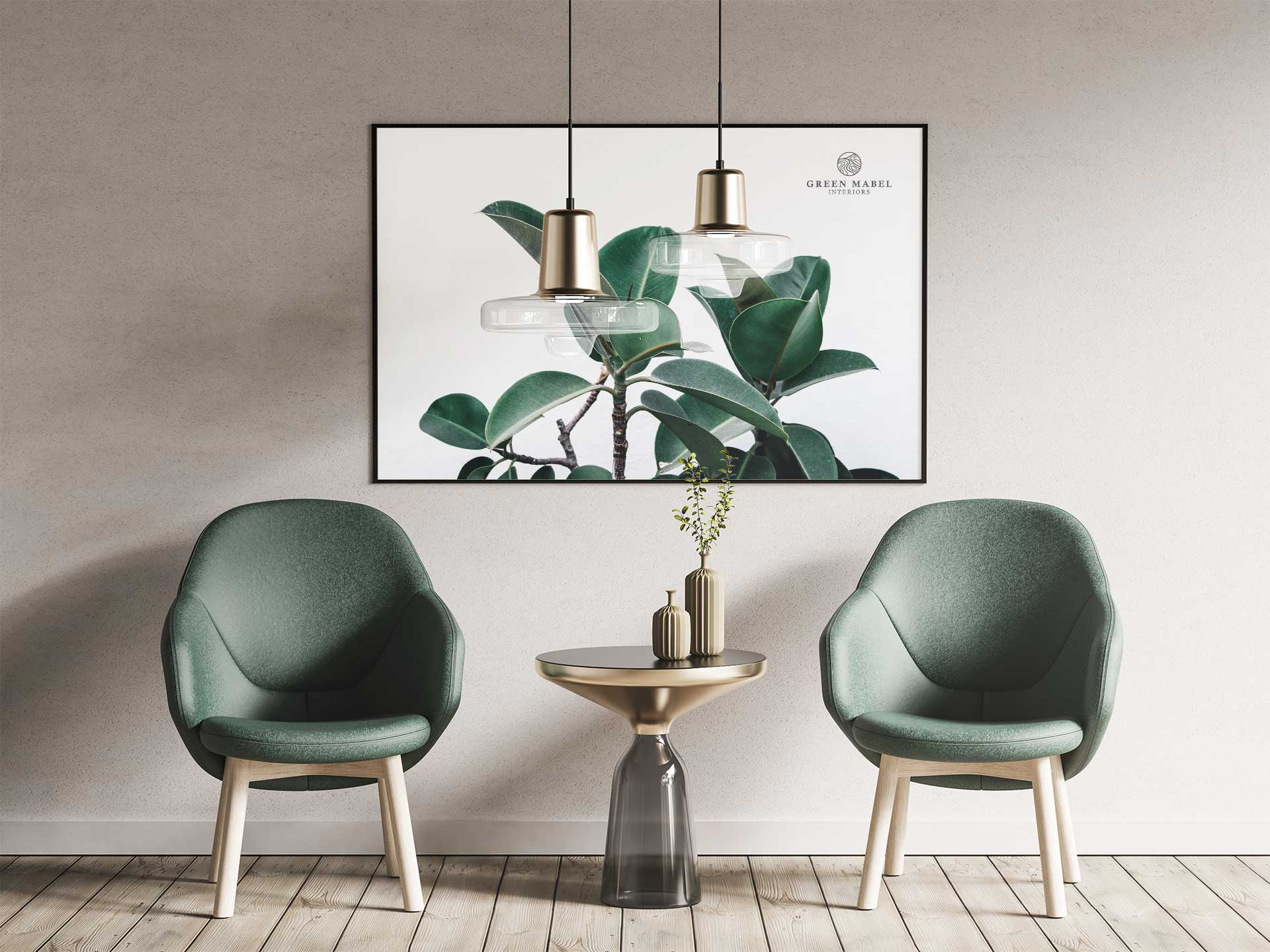 Green Mabel Chairs Poster