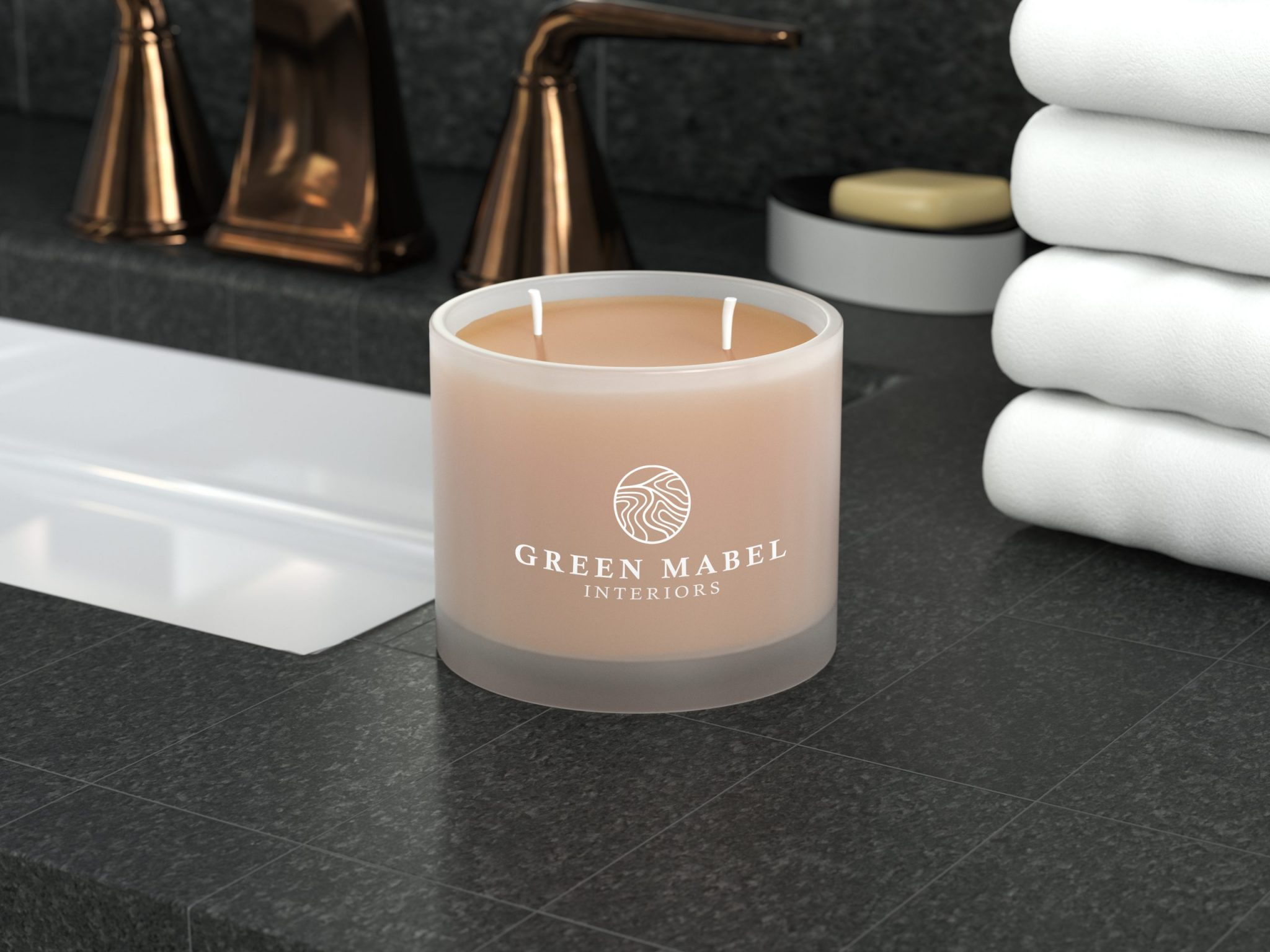 Green Mabel Interiors Candle scaled