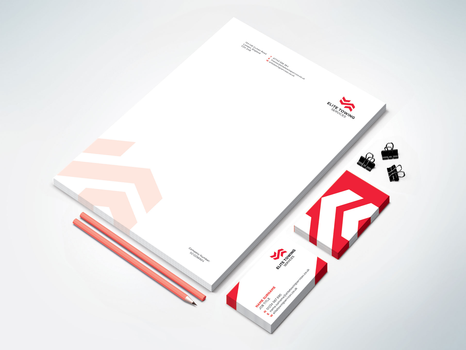 Elite Towing Services Stationery