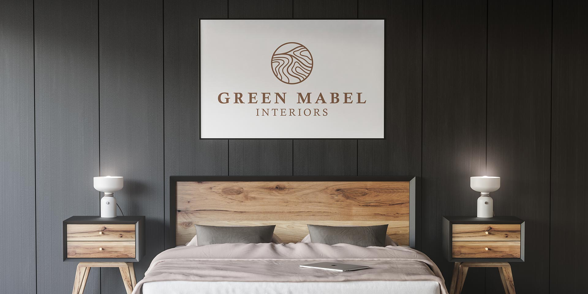 thefingerprint Green Mabel Interiors branding project
