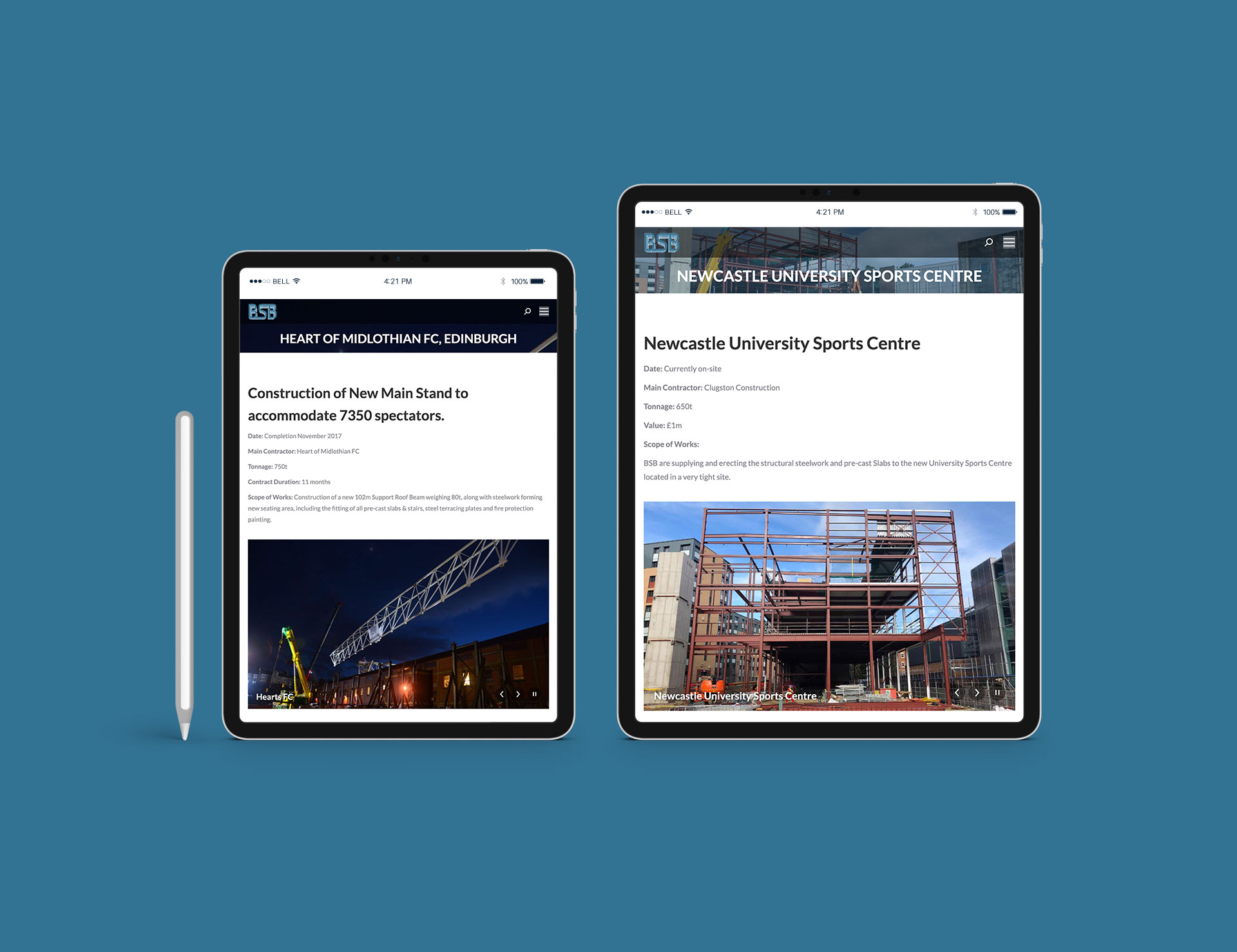 BSB Structural Website Projects