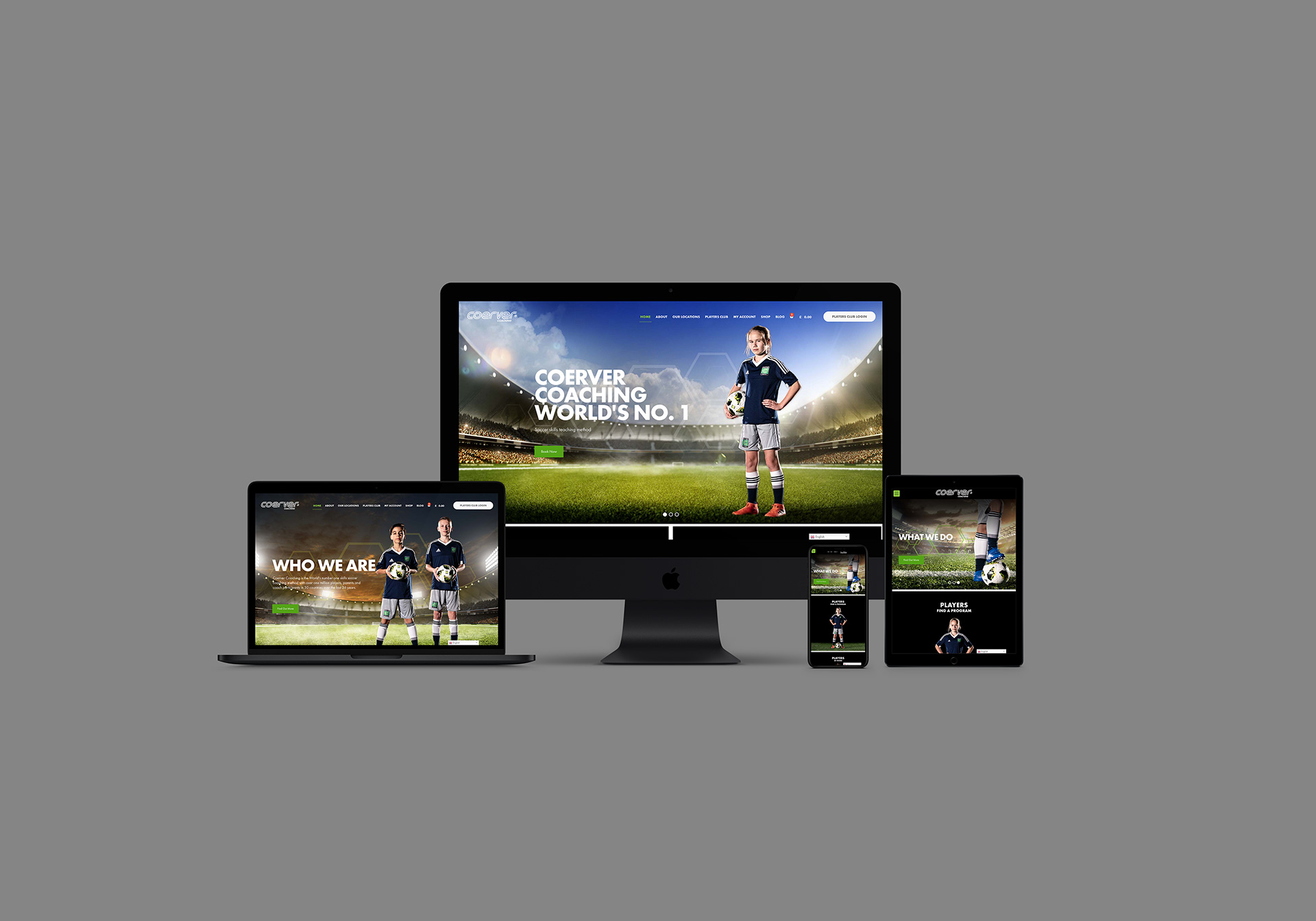 Coerver Coaching Website Devices