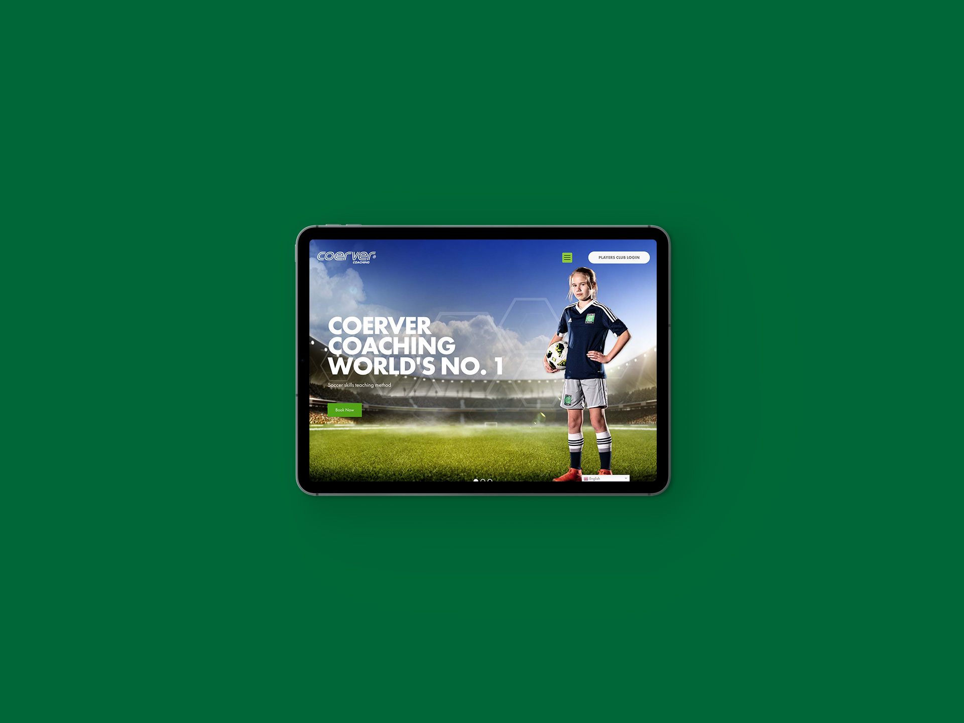 Coerver Coaching Website Ipad