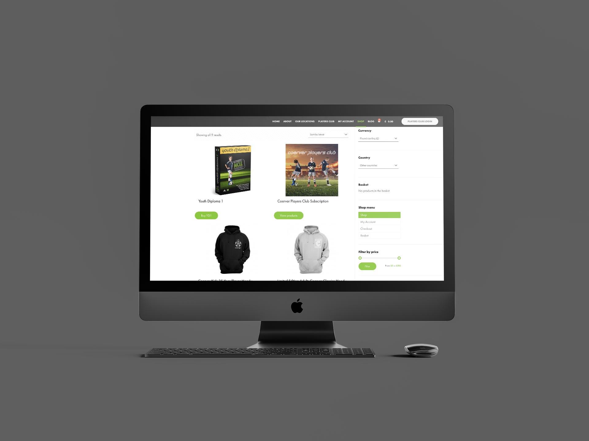 Coerver Coaching Website Shop