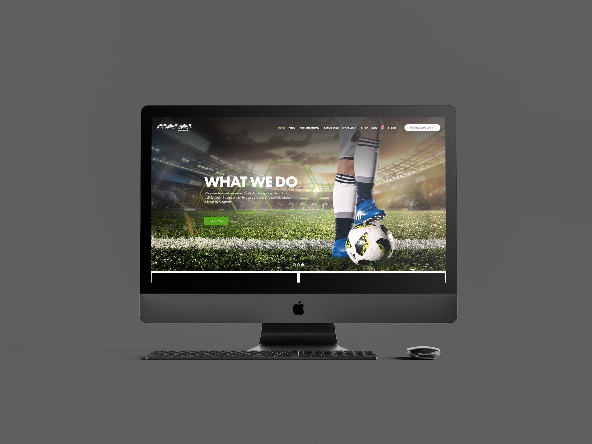 Coerver Coaching Website