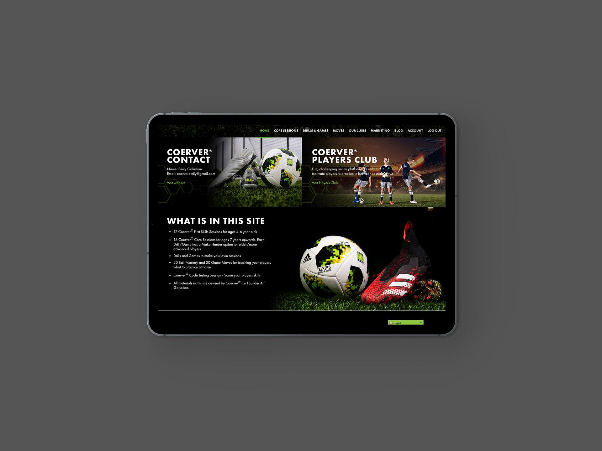 Coerver Partner Club Website Details