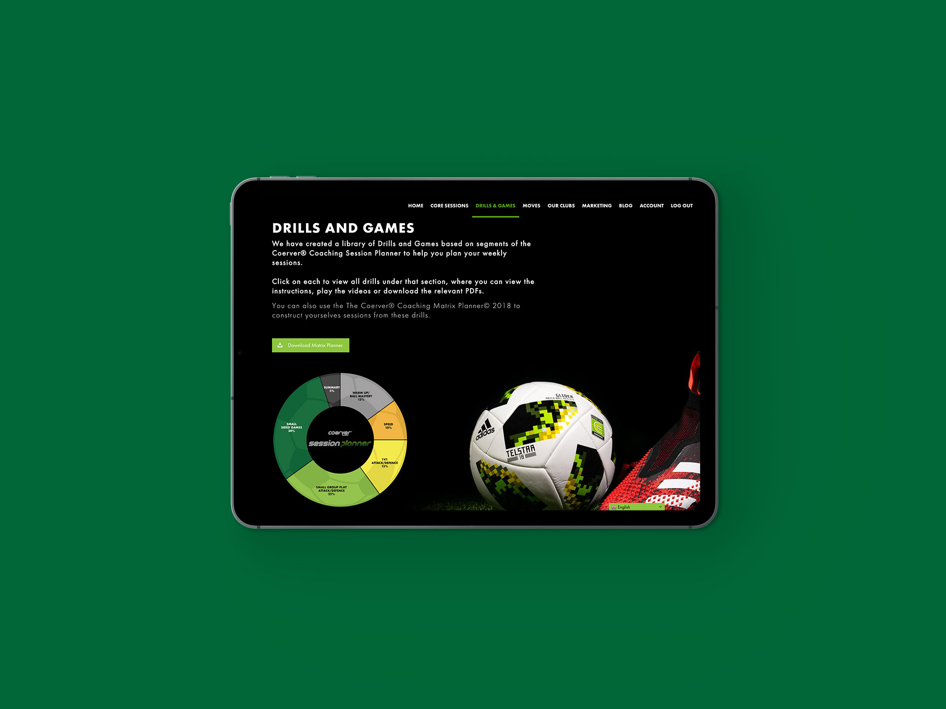 Coerver Partner Club Website Drills