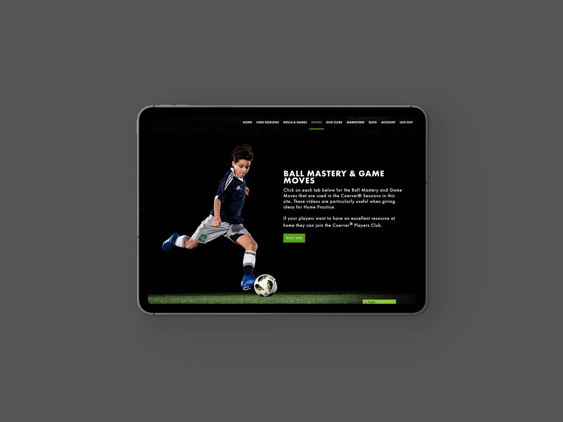 Coerver Partner Club Website Moves