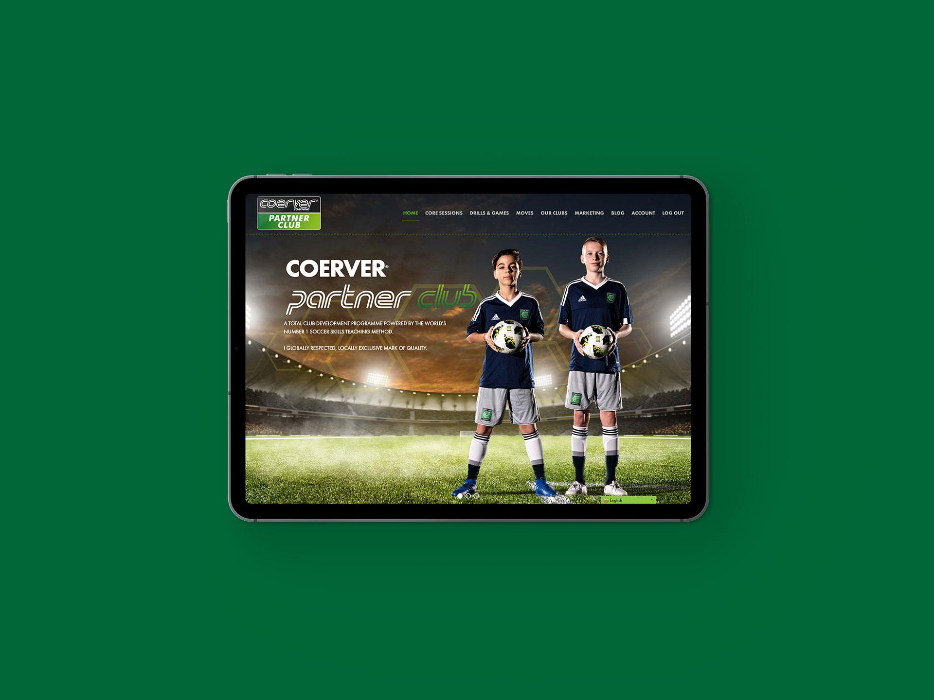 Coerver Partner Club Website
