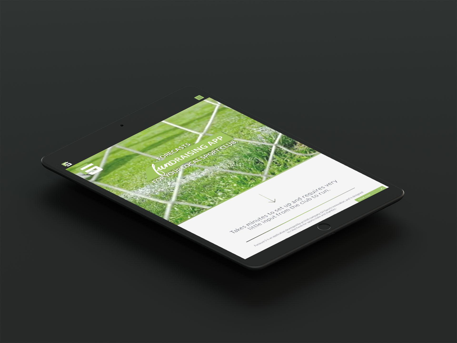 Forecast5 app website ipad