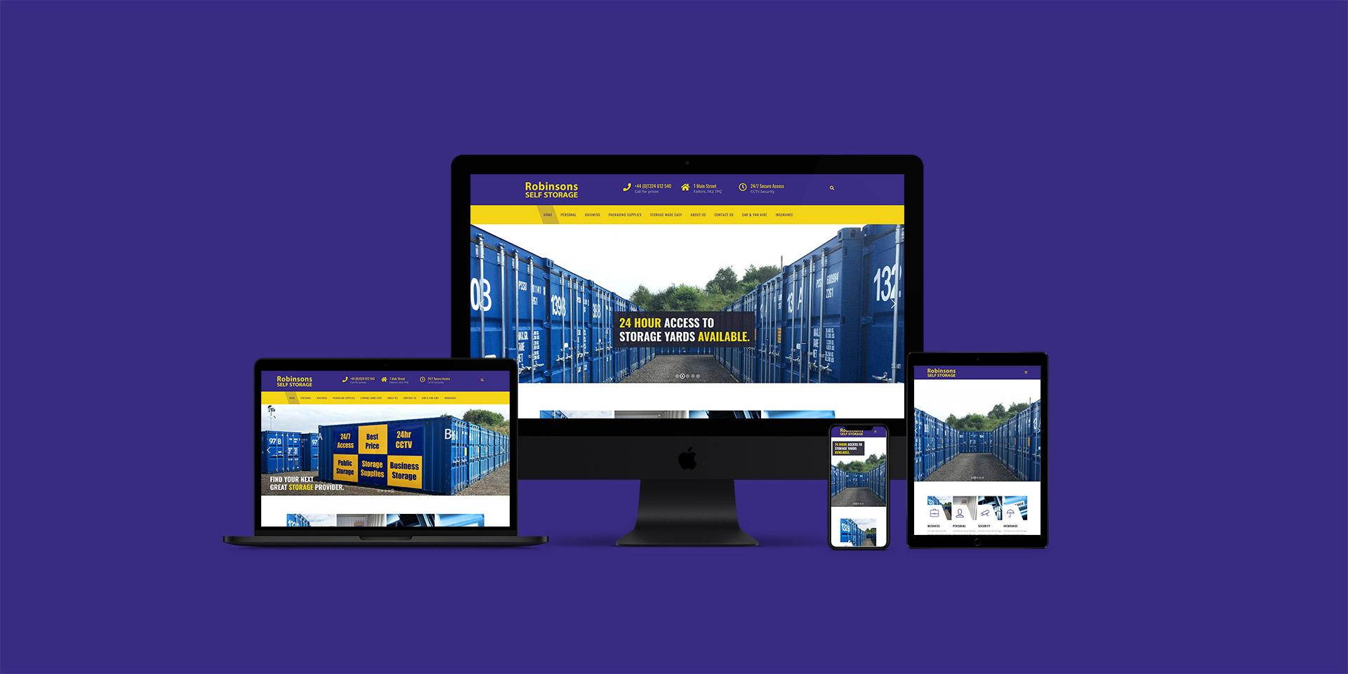 Robinsons Self Storage Responsive Website